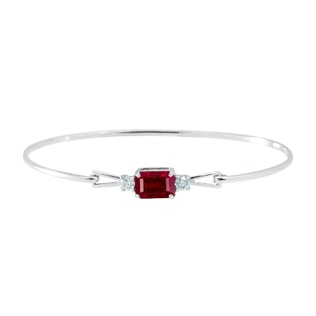 Gold bracelet with a ruby ​​and diamonds