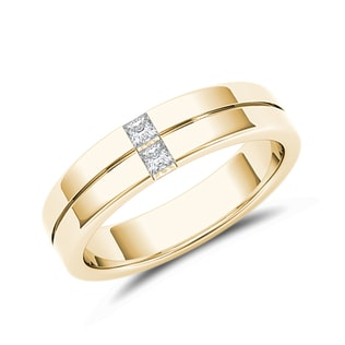 Men's wedding band in 14kt yellow gold