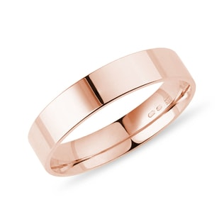 Men's wedding ring rose gold