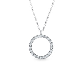 Diamond pendant in white gold