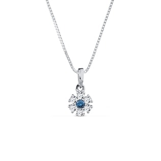 Charm with blue and white diamonds