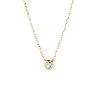 collier de diamants en or