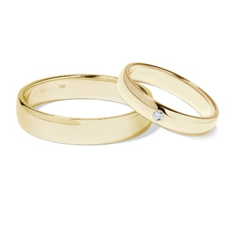 Diamond 14kt gold wedding rings