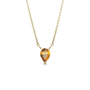 Collier en or avec citrine