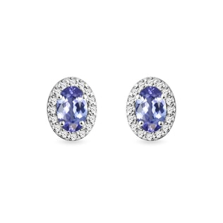 Diamond and tanzanite earrings in white gold