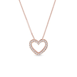 Collier en forme de coeur avec diamants