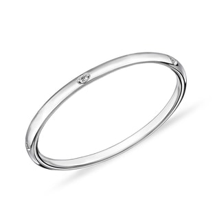 Diamond ring in 14kt white gold