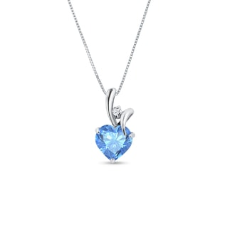 Topaz pendant in 14kt white gold