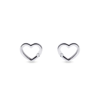 Heart earrings in 14kt gold