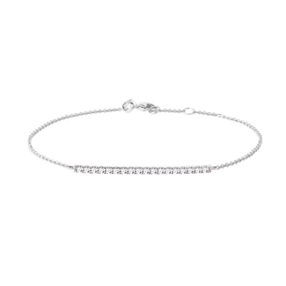 Diamond bar bracelet in white gold