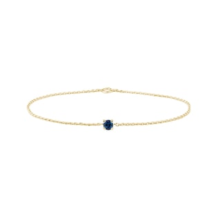 Blue sapphire bracelet in yellow gold