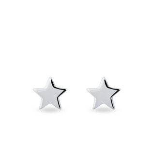 Star-shaped earrings in white gold
