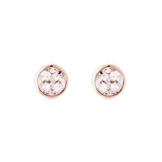 Simple morganite earrings in rose gold