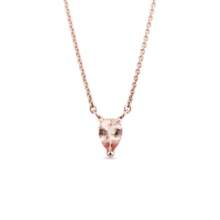 Morganite necklace in rose gold