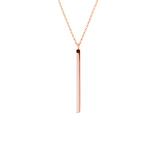 Vertical Bar pendant in rose gold