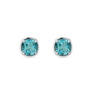 Topaz earrings in white gold