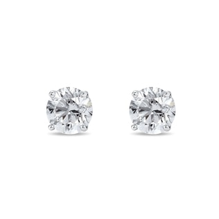 Boucles d'oreilles brillantes en diamant, 0.33 ct
