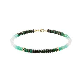 Colored emerald bracelet in gold