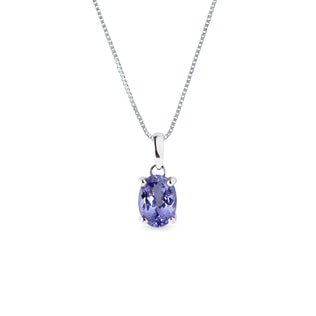 Tanzanite pendant in 14kt gold