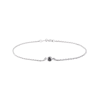 Black diamond bracelet in 14kt white gold