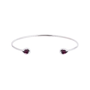 Rhodolite bracelet in white gold