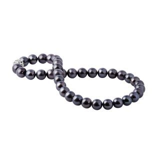 Tahitian pearl necklace with silver clasp