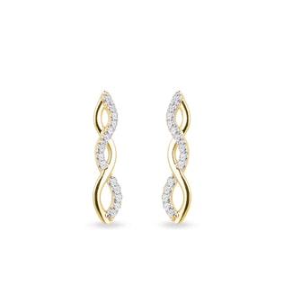 Helix diamond earrings in yellow gold