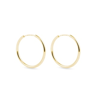 14kt gold hoop earrings