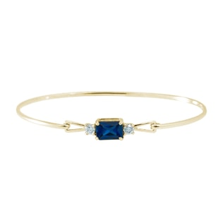 Bracelet or jaune, saphir et diamants