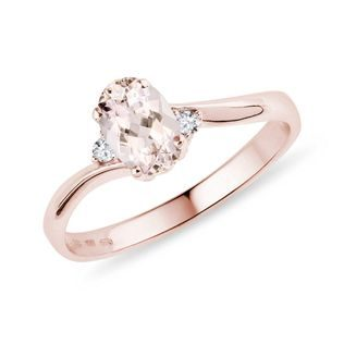Morganit Ring in Roségold