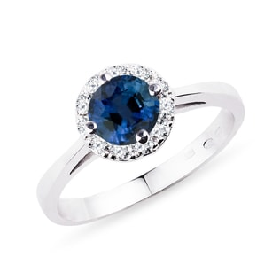 Sapphire and diamond ring in 14kt gold