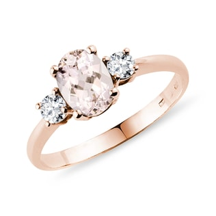 Bague Fleur de Lys, morganite et diamants