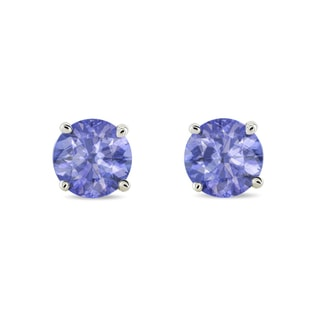 Tanzanite earrings in 14kt gold