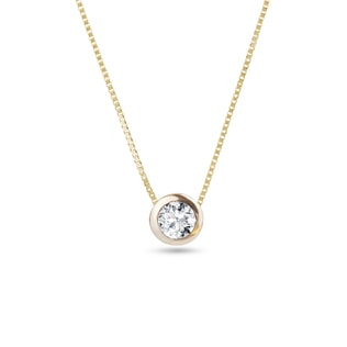 Diamond charm in 14kt gold