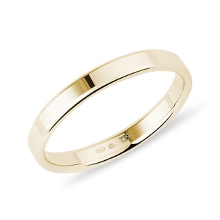 Men's modern ring in yellow gold