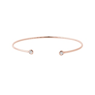 Diamond bezel bracelet in rose gold