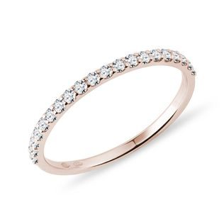 Bague en or rose et diamant