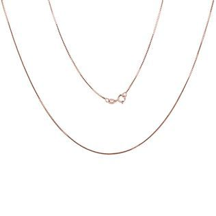 Venetian chain in rose gold, 45 cm long