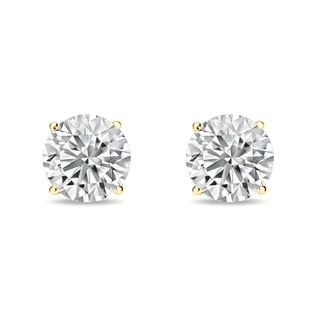 Gold earrings with 0.2ct diamonds