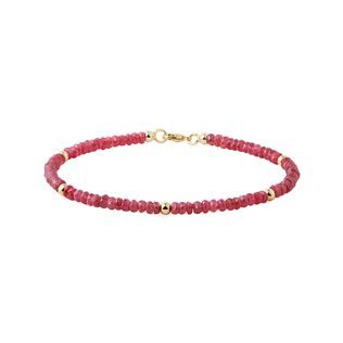 Ruby bracelet in gold
