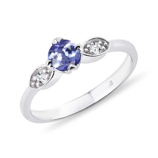 Bague en or, tanzanite et diamants