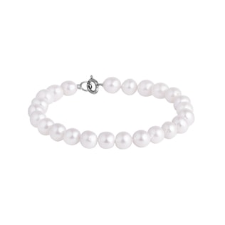 Pearl bracelet in sterling silver