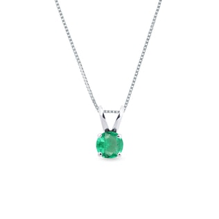 Emerald pendant in 14kt gold