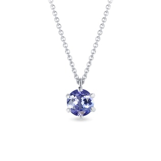 Tanzanite pendant in white gold