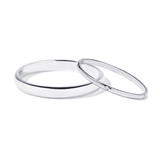White gold wedding rings