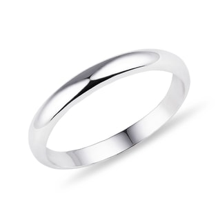 Women's wedding ring in white gold