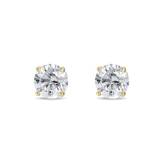 Earrings with 0.25ct diamonds in 14kt gold