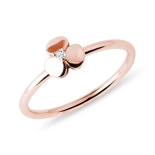 Shamrock ring in rose gold