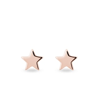 Rose gold earrings in the shape of a star