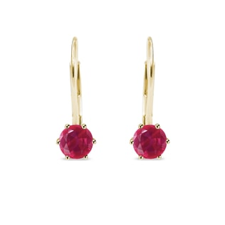 Ruby earrings in 14kt gold